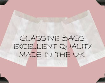 GLASSINE BAGS A6  (105mm x 150mm + 12 - 16 mm flap) x25
