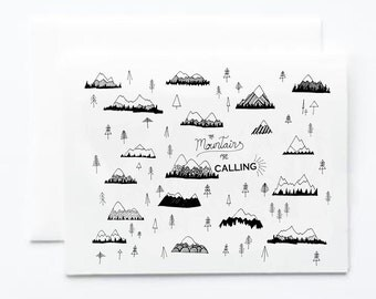 Mountains are Calling Notecard, Single or Boxed Set