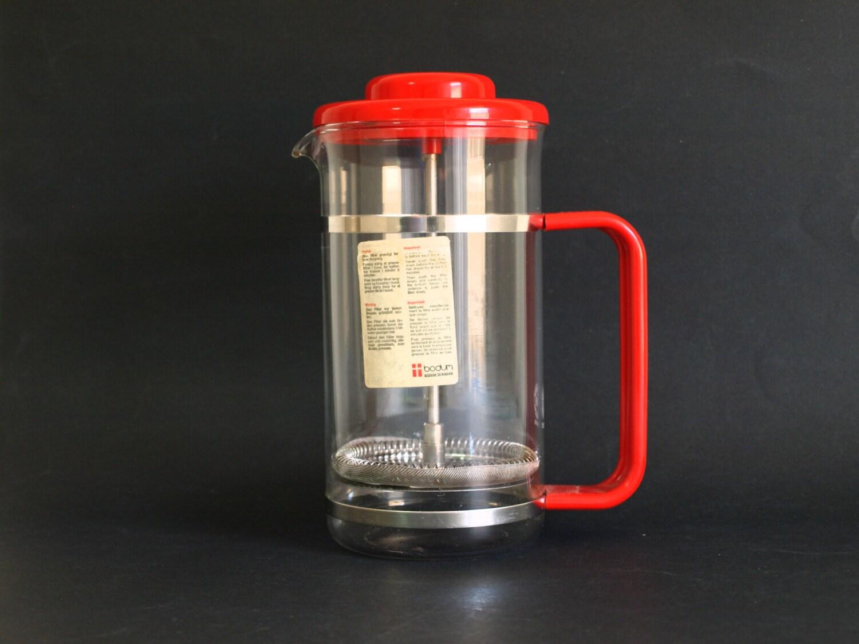 French Press Coffee Maker Nz : Bodum Bistro French Press Coffee Pot in Red Vintage Danish