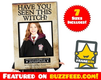 Have You Seen This Witch Photo Booth Frame (Instant Download) Harry Potter Party, Have You Seen This Wizard
