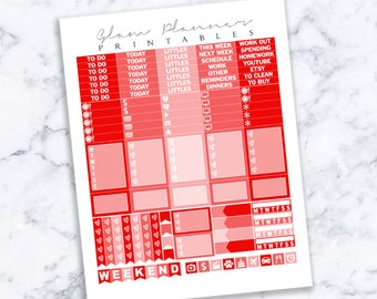 Printable Planner Stickers: 10 (Erin Condren Life Planner PDF)