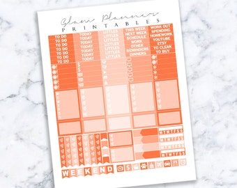 Printable Planner Stickers: 17 (Erin Condren Life Planner PDF)