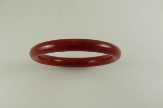 Jade Red Bangle 7 1/4 Inches