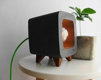 Table Lamp Home Deco Light Handmade Retro Design Concrete Cement Beton Gift Edison Bulb originates Light Nachttischlampe Exclusive night light