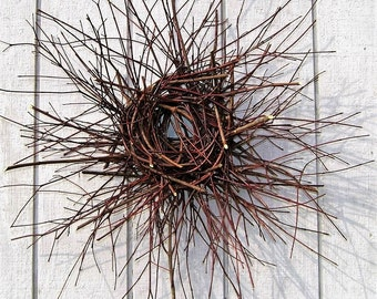 Twig Wreath - Red Twig Dogwood Wreath - Primitive Wreath - Log Cabin Wreath - Barn Door Wreath - Rustic Cottage - Front Door Wreath
