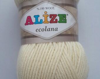 ALİZE ecolana, 100% wool yarn, classic yarn, knitting yarn, winter yarn, sweater yarn, hand knitting yarn, crochet yarn, cardigans yarn
