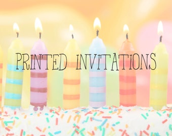 PRINTED PARTY INVITATIONS
