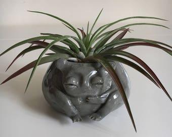 Small Grey Goblin Pot