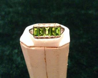 Vintage Chrome Diopside Sterling Silver Ring Size 8 3.0g AFSP