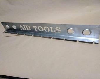 Air tool organizer rack
