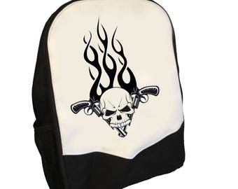 Skull and Flames Back pack  BMS