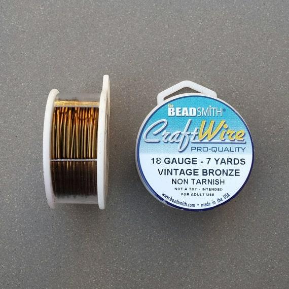 18 gauge Vintage Bronze Plated Craft Wire 7 yards 18