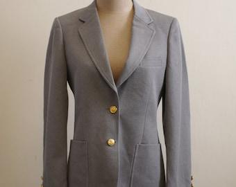 Vintage grey gold tone button blazer