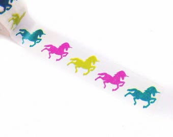 Bright Unicorn Pony Horse Washi Tape 10m