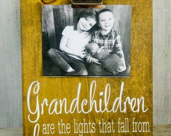 grandma frame mothers day gift for grandma grandchildren frame photo gift for grandmother nana mothers day present rustic frame