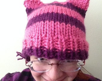 Knit Knitted Kitty Cat Hat