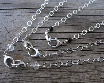Mama metal / modular jewelry basic sterling silver double clasp chain // made to order