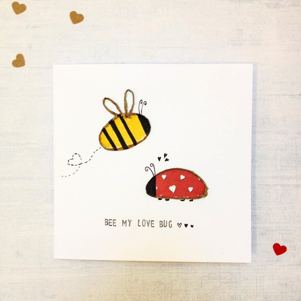 Cute valentine card – Bee My Valentine Card