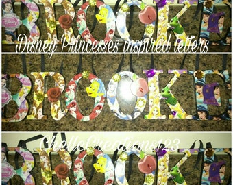 Sale!! 5 IN Disney Princesses inspired letters((48 HOUR SALE))