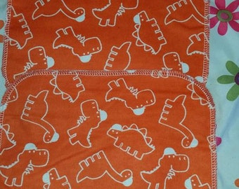 Dinosaur cloth wipe