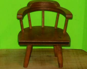 Miniature Wooden Captains Chair