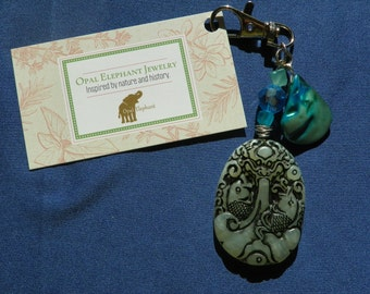 Water Dragon and Lucky Fish Purse Clip