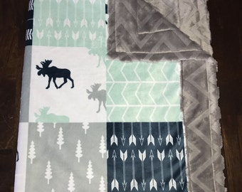 Moose Minky Blanket