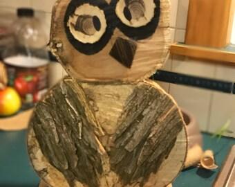 Rustic Wooden Owl