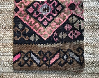 16 x 16 Vintage Turkish Kilim Pillow