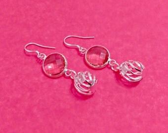 Silver earrings, long earrings