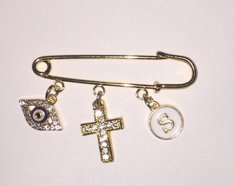 Stroller pin.  Strollers pin.  Protection pin.  Evil eye pin. Baby pin. Diaper bag pin. Purse pin.