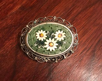 Vintage micromosaic from Italy