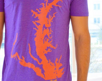 Purple Maryland Orange Bay V Neck