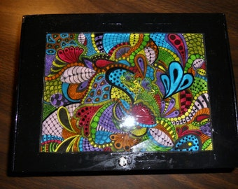 Pretty zentangle cigar box