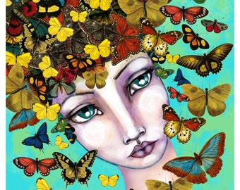 "Fine Art Print ""Butterfly Girl"""