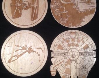 Star Wars Ships Inspired Coaster Set