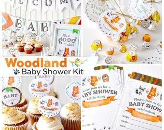 Woodland Baby Shower Printable Kit