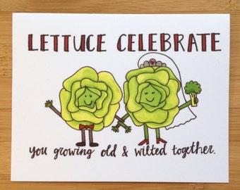 Wedding Card- Lettuce Celebrate