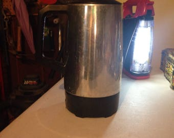 Mid century modern stainless coffee maker with electric cord