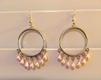 Pink Pearl Dangles