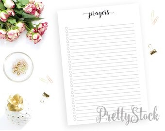 Prayers Printable, Prayers Printable Planner Inserts, Prayers Checklist, A4, A5, Letter, Half letter, Binder Printable, Prayers Binder