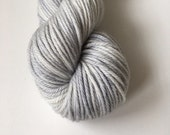 Aran Hand Dyed Australian Merino Hullabaloo Aran Knitting Yarn Grey Hawk