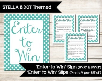 Guest sign in sheet etsy for Stella and dot invitation templates