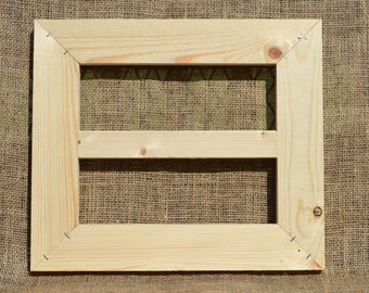 """16"""" by 14"""" Split Unfinished Wood Crafting Frame"""