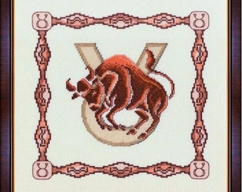 Cross Stitch Kit Horoscope Taurus