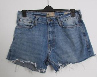 Denim Cut Off Distressed Jean Shorts