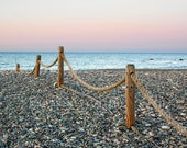 Beach Fence Beauty at the Golden Hour, beach scenes, ocean, seashore, south shore, Massachusetts, New England, archival signed print
