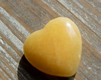 Orange Calcite Heart SALE , 50% Off , Crystal For Joy , Abundance ,  Protection , Prosperity , Small Gift , Keepsake.