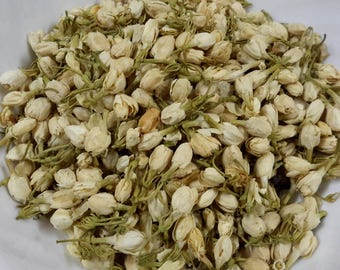 Dried Whole Jasmine Flowers, Jasmine buds, soap making, bath bomb supplies, decor, jewelry, jasmine tea, sachet, dried Jasminum, incense