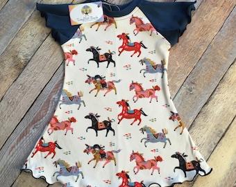 """Organic Cotton """"Wild Horses"""" Flutter Dress"""